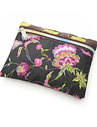 oxford pano bolsa de embreagem / moeda das mulheres - rosa / preto