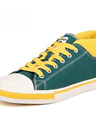 Zapatos de Hombre - Sneakers a la Moda - Casual - Tela - Negro / Marrón