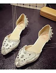 Women's Shoes Flat Heel Closed Toe Flats Casual White