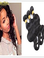 3pcs / lot baratos brasileiras virgens do cabelo humano cabelo liso personalizado 8-32inches 3pcs por feixes de 100g per pc