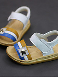 Baby Shoes Casual Leather Sandals Blue/Yellow/White