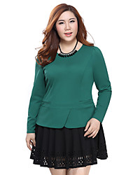 Prettyshow 2015 autumn new OL style lady big size XL-5XL solid springy slimming blouse clothes QA3RT0138