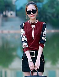 Chemise Aux femmes Manches Longues Mousseline de soie