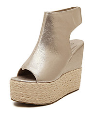 Women's Shoes    Wedge Heel Wedges/Peep Toe Sandals Casual White/Gold