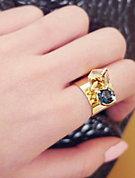 New Arrival Fashional Geometric Crystal Ring