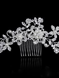 Bride's Flower Shape Rhinestone Forehead Wedding  Hair Combs Accessories 1 PC