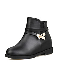Women's Shoes  Flat Heel Fashion Boots/Round Toe Boots Office & Career/Dress Black/White