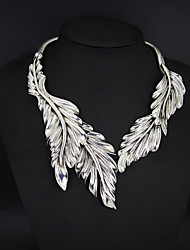 Casual Alloy Feather Choker