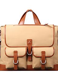 x.bnj rozó la tela con cuero genuino de la vendimia primera capa de la moda para los hombres únicos maletines de diseño del bolso del