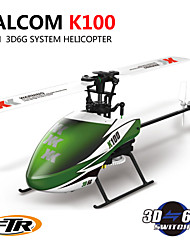 XK K100 Falcom 6CH Flybarless 3D6G System RC Helicopter