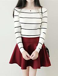 Women's Fashion Bateau Blouse , Cotton/Knitwear Sleeveless