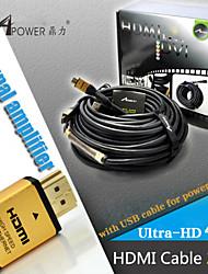 25 mètres câble HDMI avec puce d'amplificateur de signal ic mâle à mâle v1.4 HD 1080p pour hdtv PS4 xbox