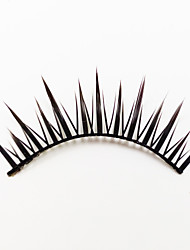 1 Eyelashes lash Full Strip Lashes Eyes Lifted lashes Machine Made Fiber Black Band 0.05mm 12mm