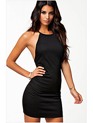 Eose Women's Dresses , Polyester Sexy/Bodycon/Party Backless Summer/Fall