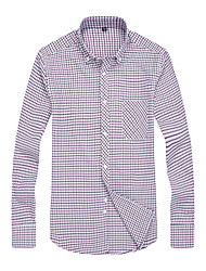 2015 Business Shirt with Casual Style Oxford Fabric Sleeve Men Dress Shirt Brand New Men Clothes 108 3204 SP001592