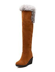 Women's Shoes Wedge Heel Round Toe Over-The-Knee Boots More Colors available