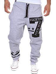 MEN - Pantaloni - Informale/Lavoro A vita medio-alta - Attivo Misto cotone