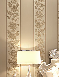 Contemporary Wallpaper Art Deco 3D Retro Embroidery Fringe Big Flower Wallpaper Wall Covering Non-woven Fabric Wall Art