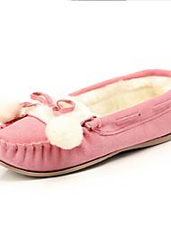 DamenLässig-Wildleder-Flacher Absatz-Komfort / Boot-Blau / Braun / Rosa / Beige