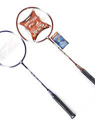 2 Pieces Joerex High Strength Badminton Rackets Red Dark JBD6004