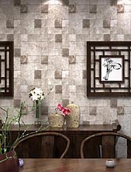 Ladrillo Fondo de pantalla Para el hogar Contemporáneo Revestimiento de pared , PVC/Vinilo Material adhesiva requerida papel pintado ,