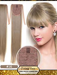 synthétique à longue blonds excellente qualité 22 pouces or droite (n ° 16) ruban queue de cheval postiche