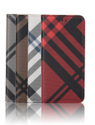 For iPhone 6 Case / iPhone 6 Plus Case Wallet / Card Holder / with Stand / Flip / Pattern Case Full Body Case Lines / Waves HardPU