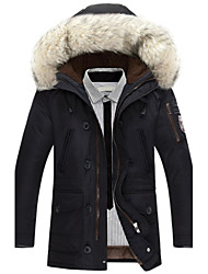 Men's Long Padded Coat , Cotton Pure Long Sleeve