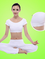 Women's Yoga Suits Short Sleeve Breathable / Lightweight Materials White Yoga / Fitness S / M / L / XL / XXL
