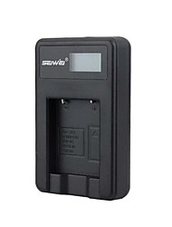 Camera Battery Charger with Screen for Olympus LI40B Black