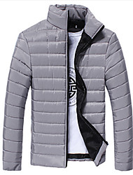 Wadded Jacket Male Winter Slim Men's Clothing Popular Cotton-padded Jacket Teenage Outerwear