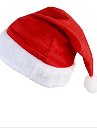 New Santa Velvet Hat Christmas Party Red And White Cap for Santa Claus Costume