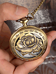 Woman Quartz Roses Pocket Watch Cool Watches Unique Watches