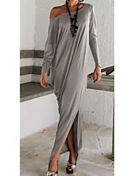 Robes ( Coton mélangé ) Vintage / Sexy / Soirée Rond à Manches longues pour Femme
