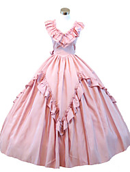 Steampunk®Gothic Pink Civil War Southern Belle Lolita Ball Gown Dress Halloween Party Dress