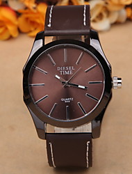 Men's fashion leisure leather watch Cool Watch Unique Watch