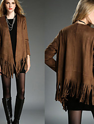 Women's  Tassels Coats & Jackets , Vintage / Sexy / Bodycon / Casual / Party Long Sleeve VICONE
