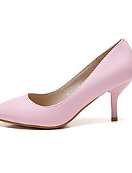 Women's Shoes Leather / Patent Leather Stiletto Heel Heels /  Closed Toe HeelsWedding / Office & Career /
