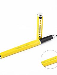 Canetas - Presente personalizado - Amarelo - de Aço Inoxidável