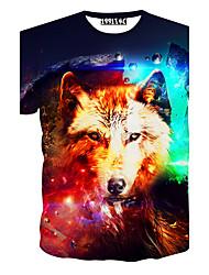 Informeel / Opdruk / Feest Rond - MEN - T-shirts ( Katoenmengeling )met Shorts