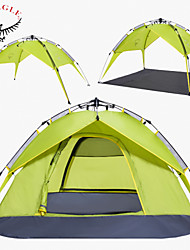 OSEAGLE® 3-4 persons Tent Double Automatic Tent One Room Camping Tent >3000mmMoistureproof/Moisture Permeability Waterproof Breathability