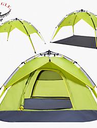 OSEAGLE® 3-4 Personen Zelt Doppel Automatisches Zelt Einzimmer Camping Zelt >3000mmFeuchtigkeitsundurchlässig Wasserdicht