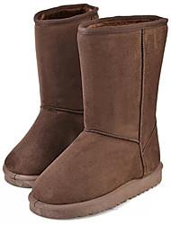 Botas ( PU , Preto / Marrom / Café ) Sapatos de Senhora - Salto Raso - 0-3cm