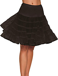 Slips Ball Gown Slip Knee-Length 3 Nylon / Tulle Netting White / Black / Red