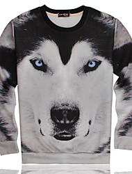 Men's 3D Printing Tide Brand of Hip-hop Men's Sweater