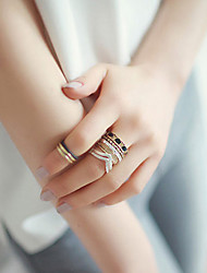Ring Wedding / Party / Daily / Casual Jewelry Alloy Women Midi Rings 1set,6 Bronze / Silver