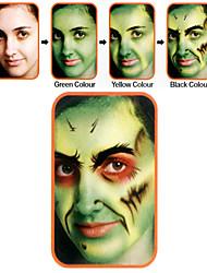 halloween compõem rosto kit de pintura zumbi / luminosa unha polonês