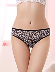 Women Sexy Leopard Print T-back G-strings & Thongs Seamless Panties