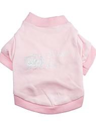 Katzen / Hunde T-shirt Rosa Hundekleidung Frühling/Herbst Tiaras & Kronen Modisch