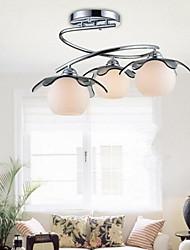 Putian™  Flush Mount Modern Fashion White Stainless Steel Glass